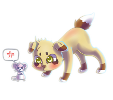 Stop teasing it! by lunumi