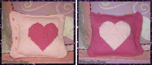 Heart-to-Heart Cushion (free pattern and chart)
