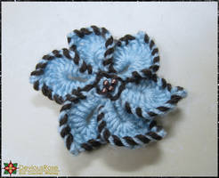 Blue Flower Hairclip by NekoMarik