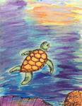 For Pishi - Sea Turtle Painting