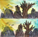 Paper test- Vibrant Sunrise