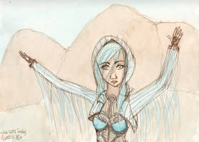 The Eagle Flies Alone - test sketch by NekoMarik