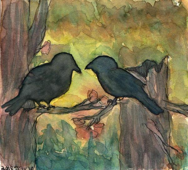 Ravens in the Fading Light - WWM Day 10 by NekoMarik
