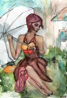 Lady in the Rain - WWM Day 23 by NekoMarik