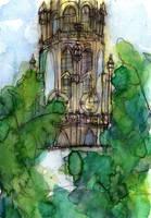 Church Tower in Antwerp - WWM 31 by NekoMarik