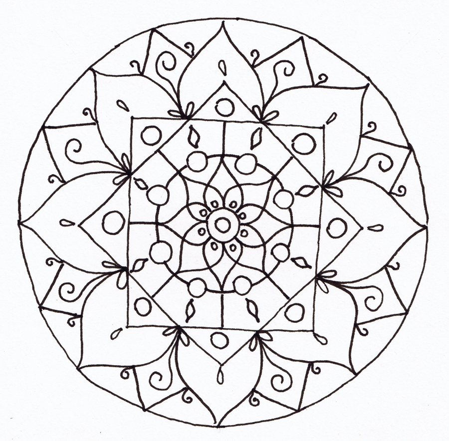 Line Drawing Mandala : Mandala lineart by catzilladk on deviantart