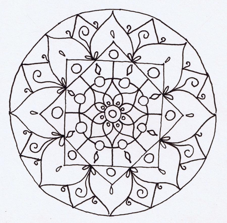 Line Art Mandala : Mandala lineart by catzilladk on deviantart