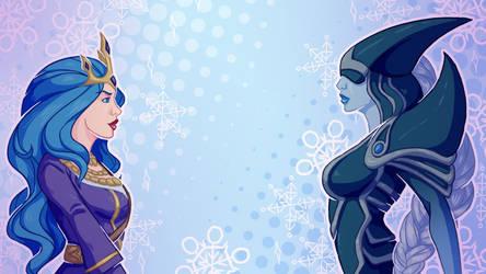 Ashe vs Lissandra by CatzillaDK