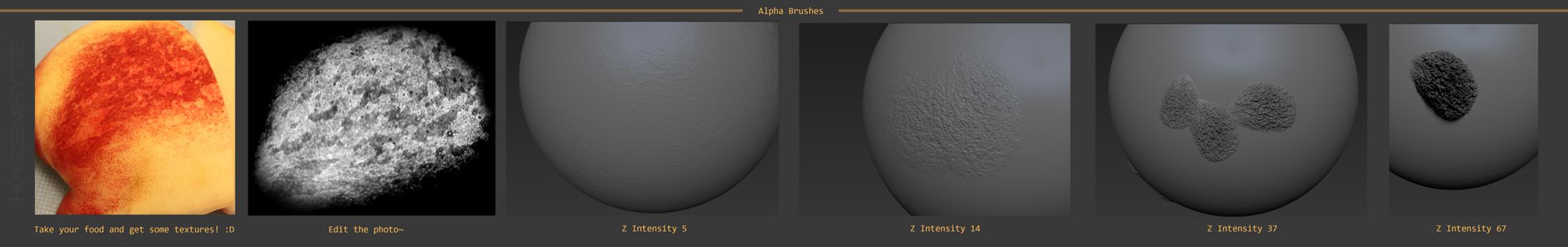 Zbrush Alpha Brush by HAZENHYTE