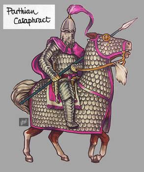sketchbook: markers: RTW Parthian Cataphract