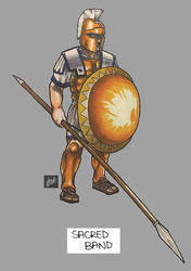 sketchbook: markers: RTW Carthaginian Sacred Band