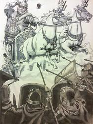 sketchbook: markers: chariot assault
