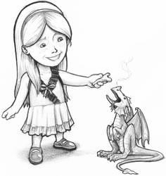 birthday card: pet dragon