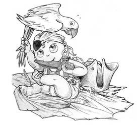 sketchbook: pencils:  pee wee privateer