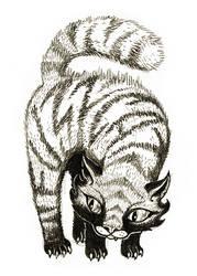 sketchbook: pencils: fuzz cat