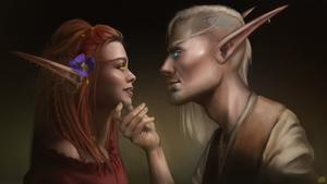 Ilthildir and Ael'anas Fala'andu [Commission]
