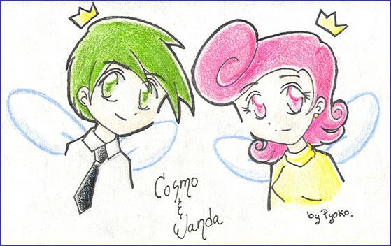 Cosmo + Wanda by Pyokolee