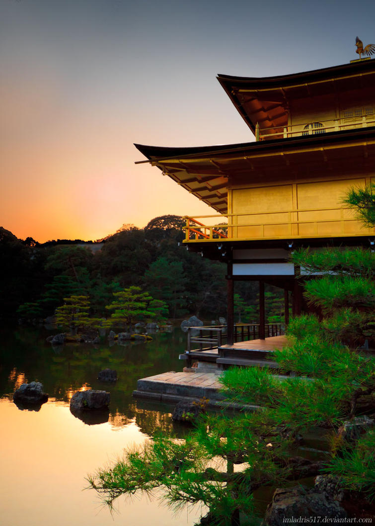 Kinkaku-ji - Temple of the Golden Pavilion by imladris517