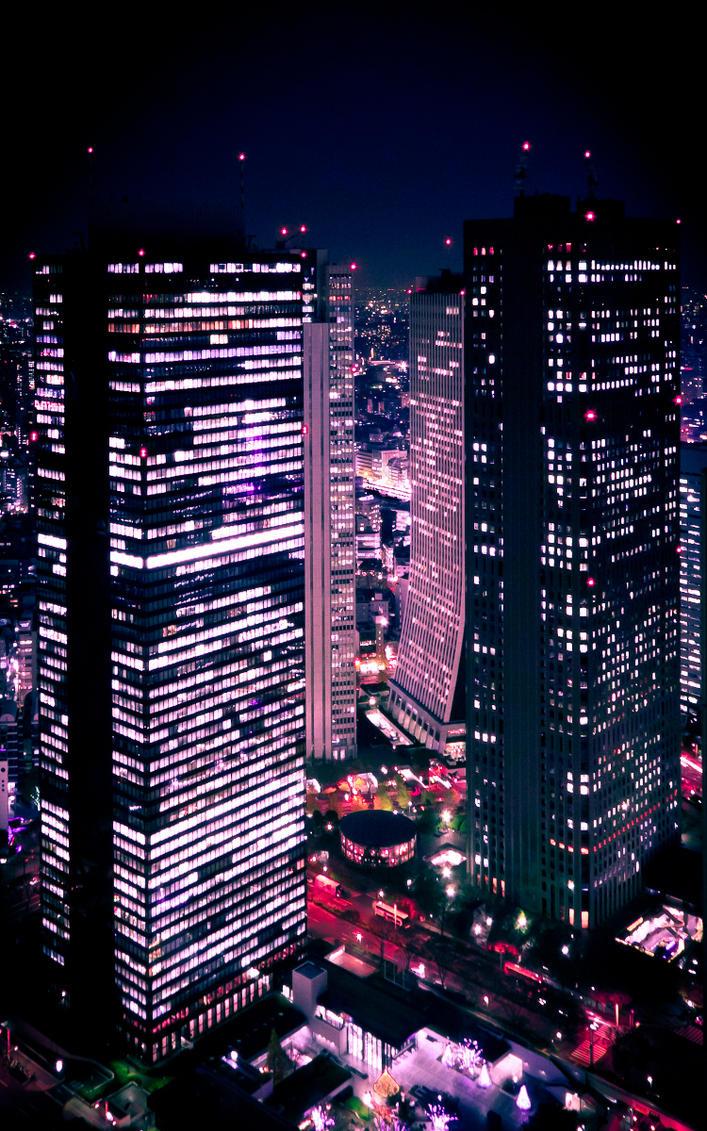 Shinjuku at Night by imladris517