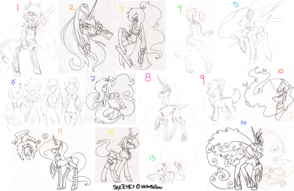 Sketch Dump! #2 by NekoMellow