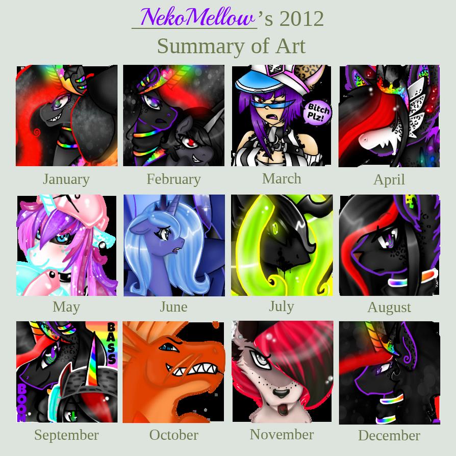 NekoMellow's 2012 Summary Of Art! by NekoMellow