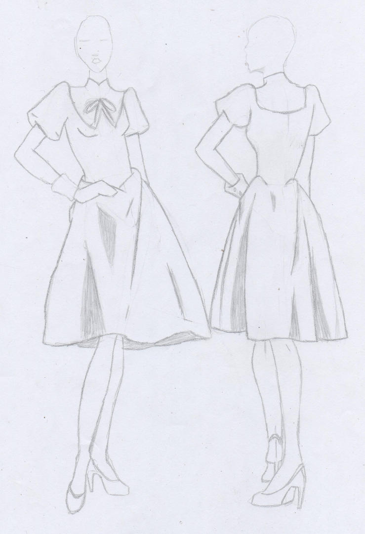 ouran high school host club dress sketch by crystawolfx on