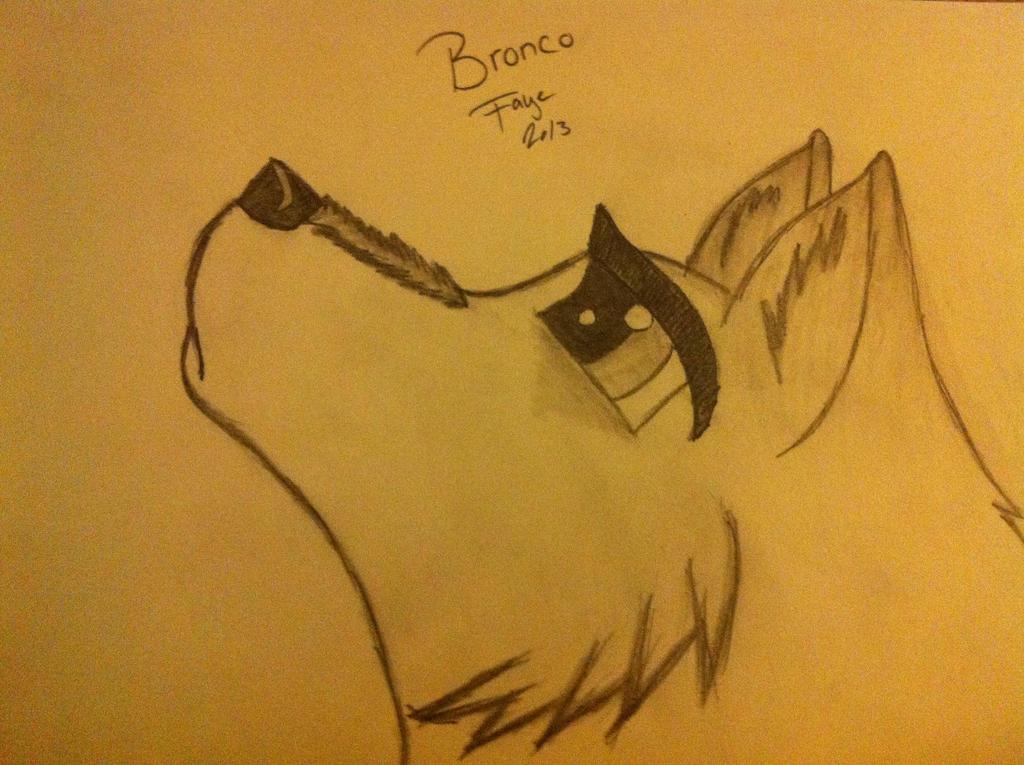 Wolf Kiss Drawing