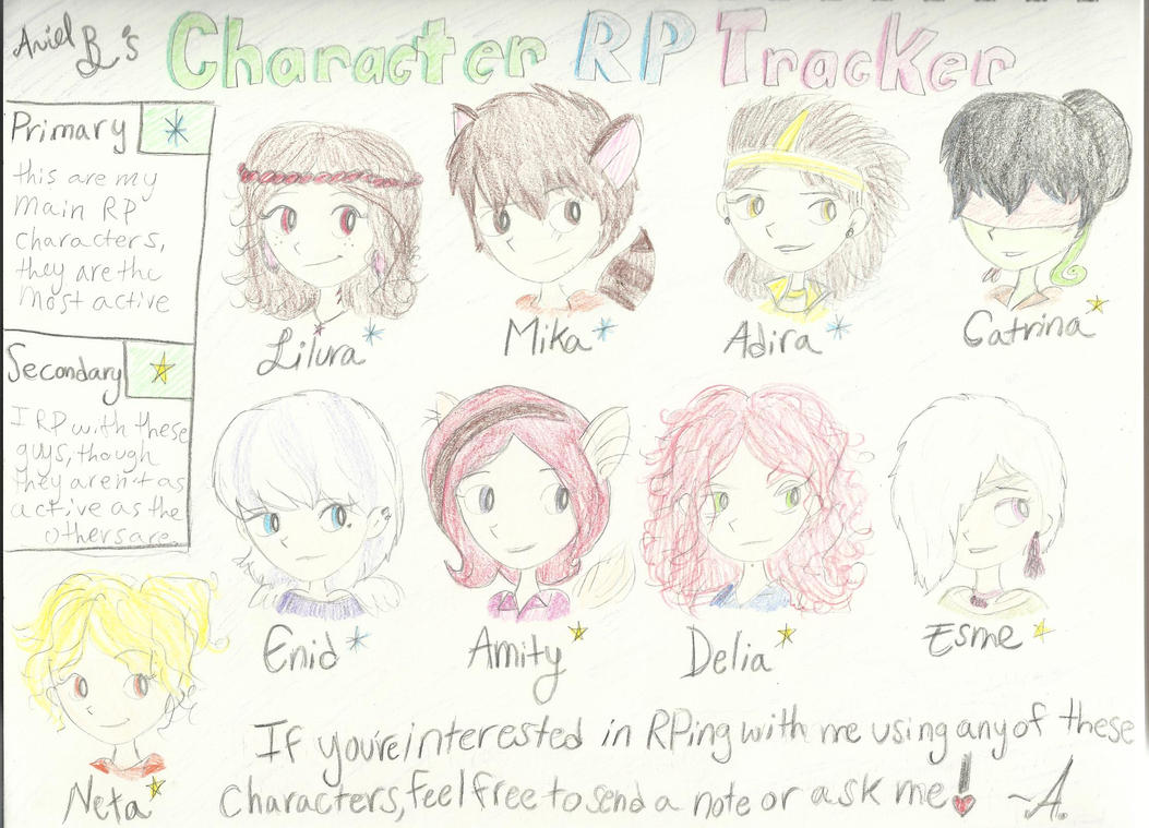 OC and RP Tracker by bubblegumbabydoll