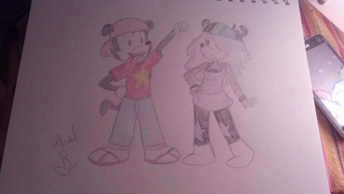 Wakko and Yumi cosplay (for CreativeHedgie295) by bubblegumbabydoll