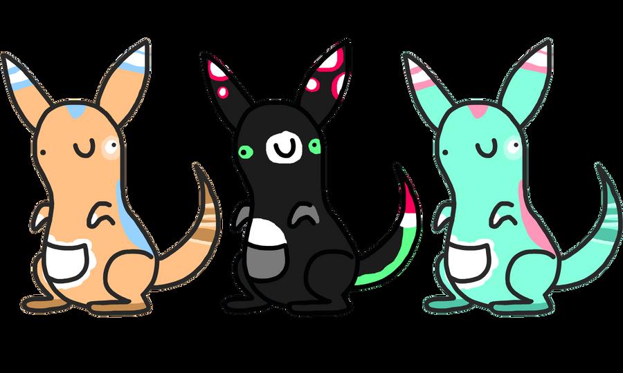 5 point Kangaroos by TheAdoptShop