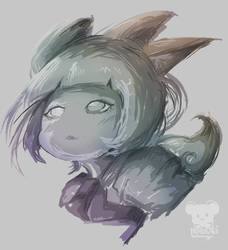 Sketch Angel Neko by Naokarii