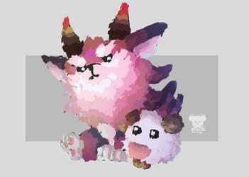Furyhorn and Poro by Naokarii