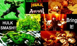 Destructive Fight Hulk vs Asura