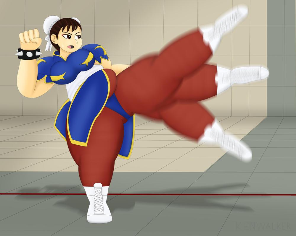 Chubby Chun Training by Fighter1Manga