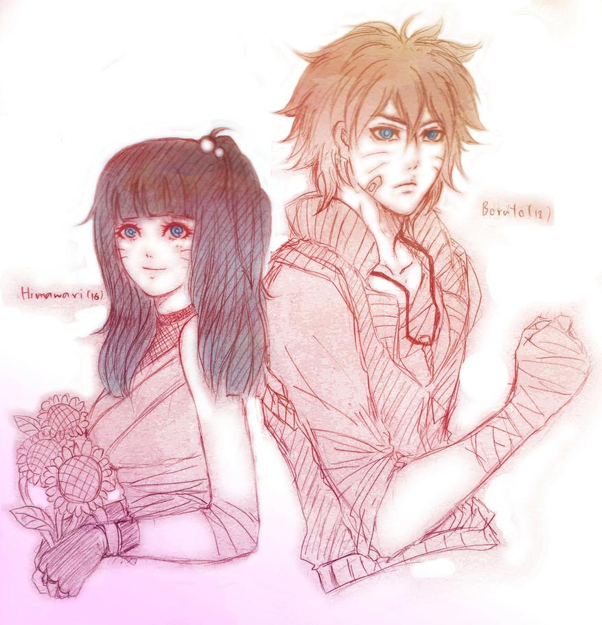 Boruto and Himawari by Kaning-mama