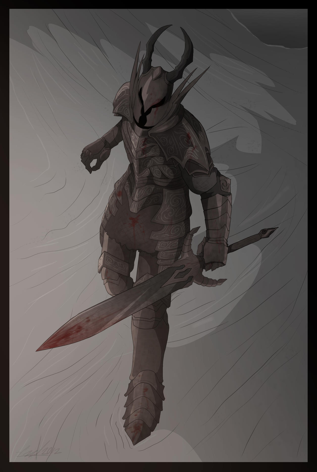 Dark Souls- Black Knight by KrumpZero