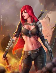 KATARINA _ League of Legends by Douglas-Bicalho