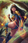 Yara Flor Wonder Woman Brazil by Douglas-Bicalho