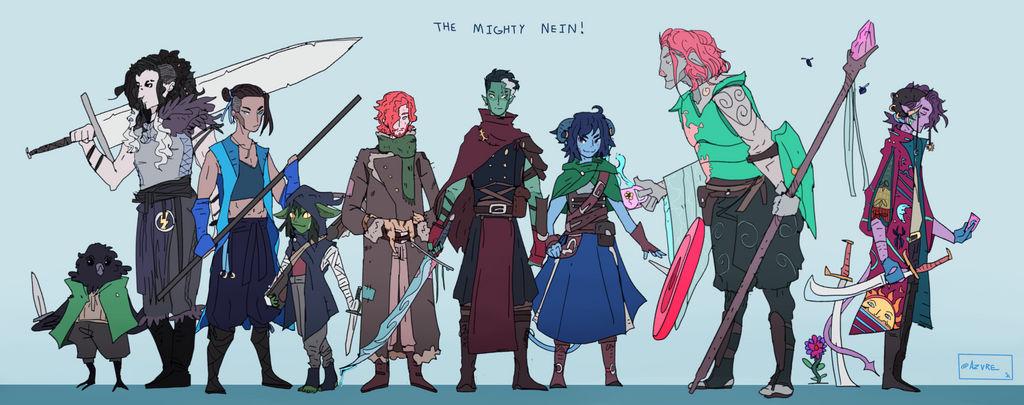 The Mighty Nein by AZVRE on DeviantArt