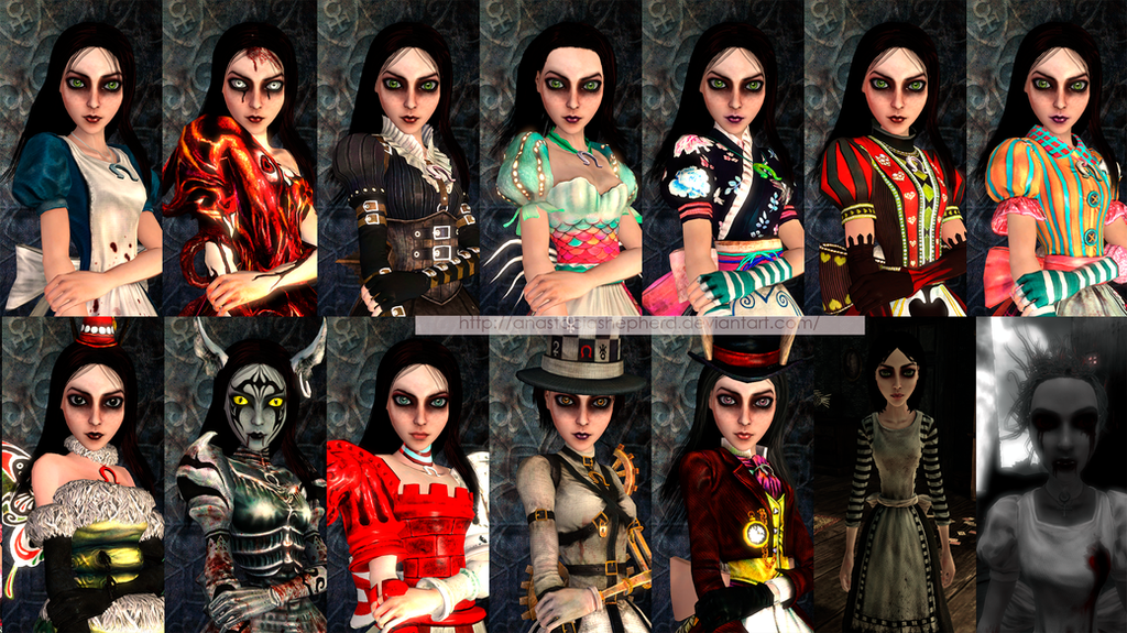 Alice: Madness Return. Textures: face and outfit by AnastaciaShepherd