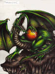Dragon with sphere