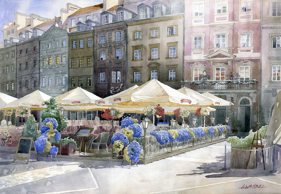 Warsaw old town euro 2012 by GreeGW