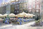 Warsaw old town euro 2012
