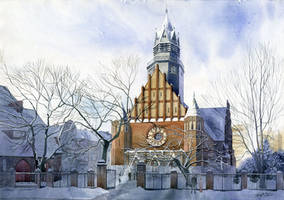 Winter church by GreeGW