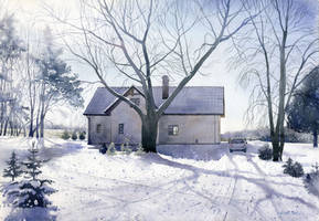 Winter house by GreeGW