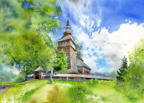Wooden church from Kotan