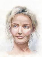 Watercolour portrait practice #1 by GreeGW