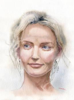 Watercolour portrait practice #1
