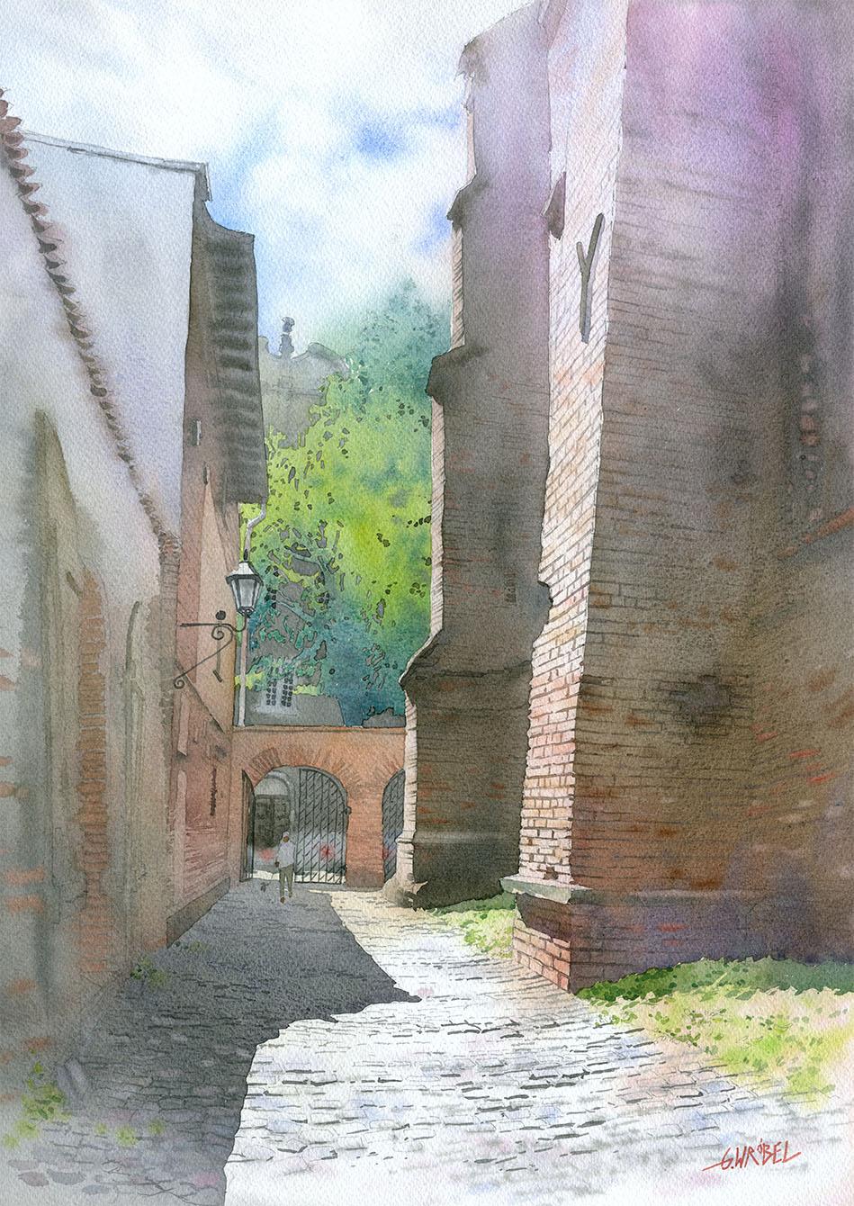 Gdansk The Alley of Zachariasz Zappio