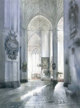 Concatedral St. Mary in Gdansk interior